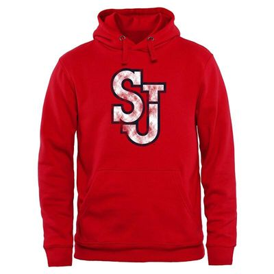 St. Johns Red Storm Classic Primary Pullover Hoodie - Scarlet