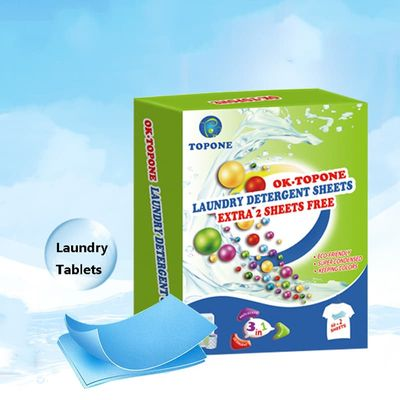 62PCS  New Formula Laundry Detergent Nano Super Concentrated Washing Soap Gentle Washing Powder Sheets Laundry Cleaning Products