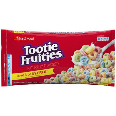 Malt-O-Meal Tootie Fruities® Breakfast Cereal, Bulk Bagged Cereal, 33 Ounce - 1 count