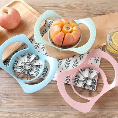 Stainless Steel Slicers Cutter Handles Rubber Grip Fruit Cutting Device Cushioned Kitchen Tool