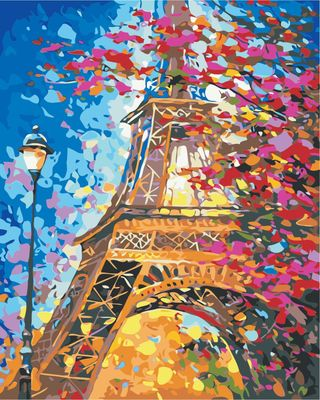 Canvas painting Tower Landscape Diy Painting By Numbers Modern Wall Art Picture Unique Gift Acrylic Paint By Numbers Home Arts