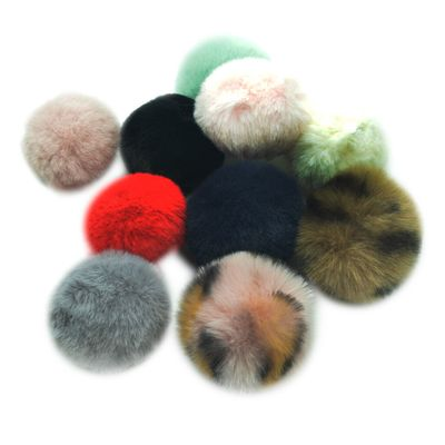 10 Pieces Assorted Color Pom Poms Fluffy Balls Embellishment Clothing Decoration for Jewelry Making DIY Necklace Earrings