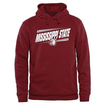 Mississippi State Bulldogs Double Bar Pullover Hoodie - Maroon