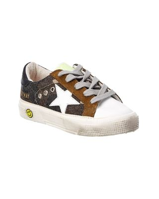 Golden Goose May Canvas & Leather Sneaker