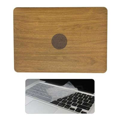 Vertical Wood Texture Leather Hard Case Cover for MacBook Air 13