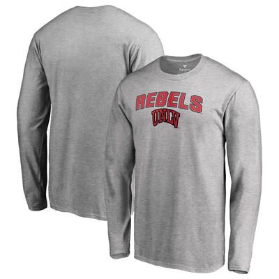 UNLV Rebels Proud Mascot Long Sleeve T-Shirt - Ash