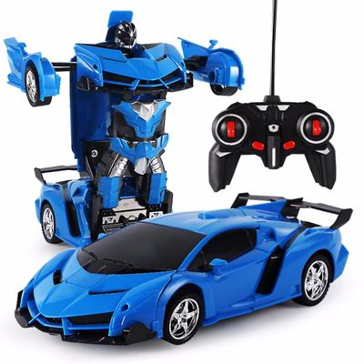 2 in 1 RC Car Deformation Robot Driving Sports Vehicle Model 1:18 Remote Control Car Toys Gifts For Boys