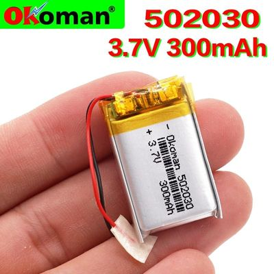 3.7V 300mAh 502030 Lithium Polymer Li-Po li ion Rechargeable Battery For MP3 MP4 toys speaker Tachograph POS free shipping