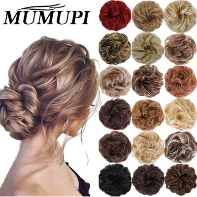 MUMUPI Hair Extensions Messy  Bun accessories Donut Hair Chignons Hair Piece Wig Hairpiece headwear rings ring