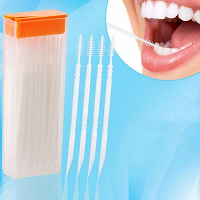 50pcs/box Double Head Dental Floss Interdental Toothpick Brush Teeth Stick Toothpicks Floss Pick Dental Oral Care Hot Sale
