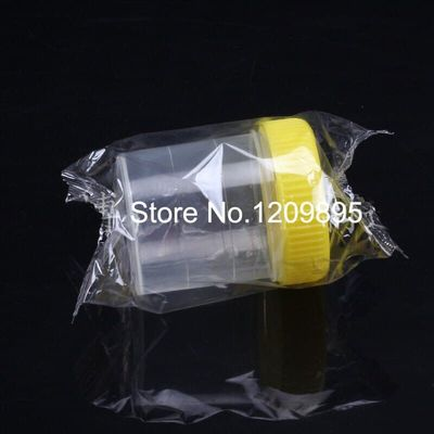 50pcs/Pack 60ml Plastic Urine Cup (Independent Packing sterilization) Sample Cup Screw Cap Bottle Free Shipping