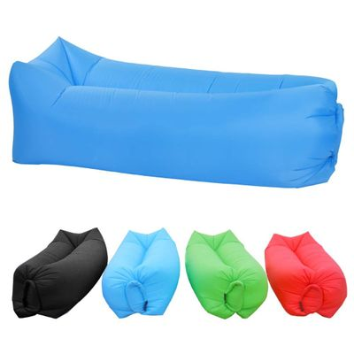 Inflatable Couch Lounger with Backpack Portable Hammock Durable Blowup Air Sofa Easy Inflate Blow Up Chair Wind Pouch Waterproof