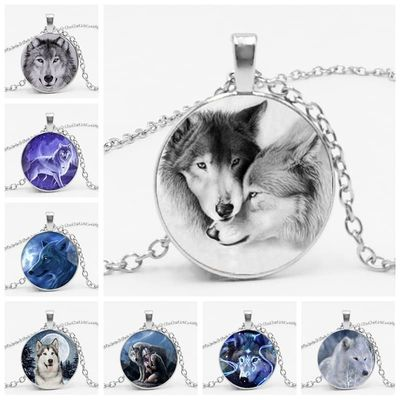 hot! Fashion Vintage Nordic Witchcraft Wolf Chain Novelty Animal Cool Wolf Sweater Chain Holder Gift Necklace Pendant Jewelry
