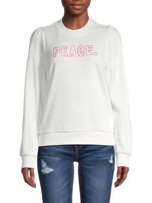 525 America Peace Puff-Shoulder Cotton Sweatshirt