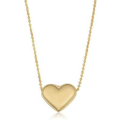 10k Yellow Gold Heart Necklace (18 inch)