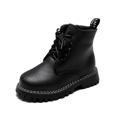 Children Fashion Boots Winter Wool Teen Girls Chelsea Boot With Zip Big Boys Snow Boots PU Leather Sneakers Baby Kids Russian