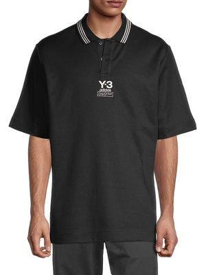 Y-3 Short-Sleeve Cotton-Blend Polo