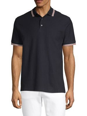 French Connection Textured Cotton Polo