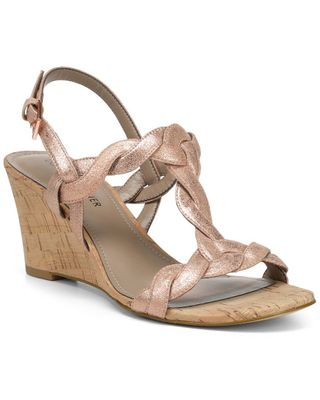 Donald Pliner Jooli Leather Wedge Sandal