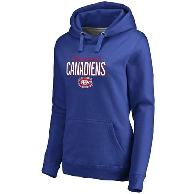 Montreal Canadiens Women's Nostalgia Pullover Hoodie - Royal