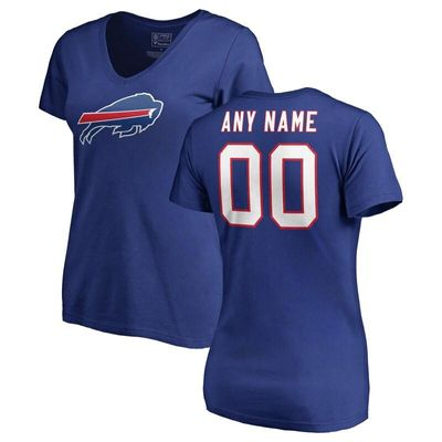 Buffalo Bills NFL Pro Line Women's Any Name & Number Logo Personalized T-Shirt - Royal
