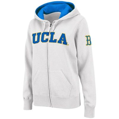 UCLA Bruins Stadium Athletic Women's Arched Name Full-Zip Hoodie - White