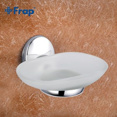 Frap Hot Sale Wall Mounted Glass Soap Dishes Soap Holder Soap Case Box Home Decoration Sabonete Bathroom Accessories F1602