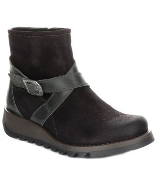FLY London Sake Suede Wedge Boot