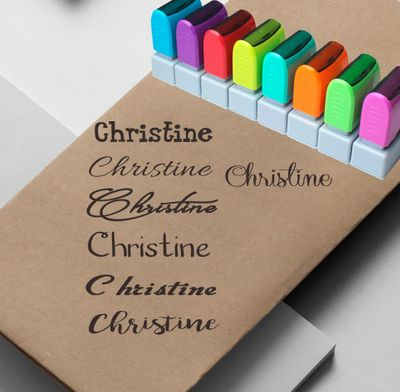 Custom Name Stamp Signature Calligraphy Selfing-inking personalized  stamp for School and office