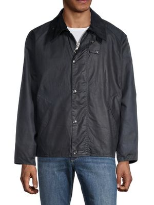 Barbour Waxed Cotton-Blend Full-Zip Jacket
