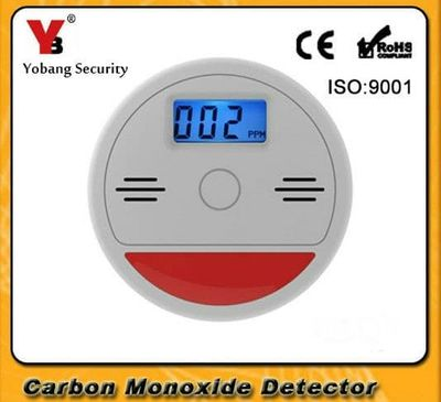 Yobang Security LCD Independent CO Carbon Monoxide Poisoning Gas Detector 85db Warning Photoelectric CO Gas Leakage Alarm Sensor
