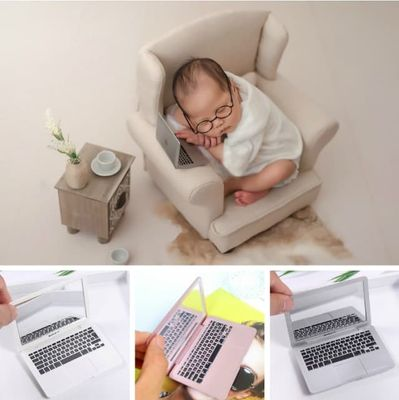 Photography Prop Mini Laptop Newborn Baby Shoot Accessory Creative Props Baby Modern Theme Photography Decoration Novel Ornament