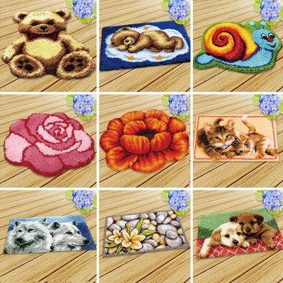 Knoopkussen Dieren Cushion Latch Hook Rug Kits Tapijt Kussen Knooppakket Carpet Embroidery Set Foamiran For Needlework LatchHook
