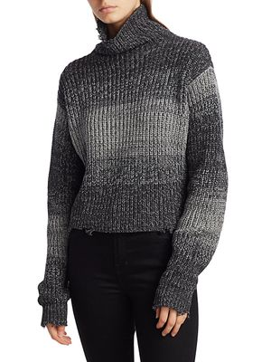 RtA Beau Ombre Turtleneck Sweater