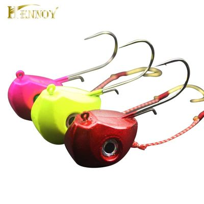 Hennoy 2020 New Jig Lures 40g 60g 80g 100g Lead Head Jigs with Single Hook Pesca Accessories Boat Fishing Enquipment