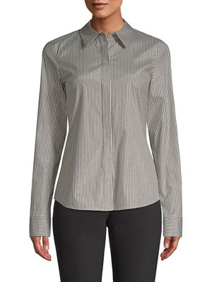 Lafayette 148 New York Phaedra Button-Front Blouse