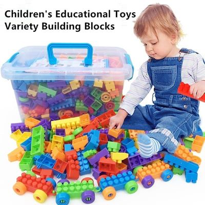 Hot toy toys For kids Inserting and assembling Large particle Building Blocks educational toys DIY Constructor toys For children