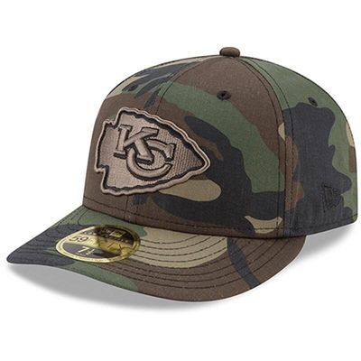 Kansas City Chiefs New Era Woodland Camo Low Profile 59FIFTY Fitted Hat