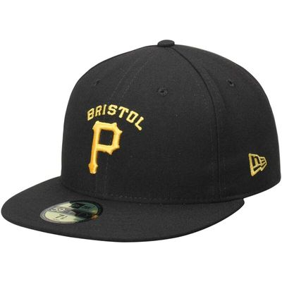 Bristol Pirates New Era Authentic Home 59FIFTY Fitted Hat - Black