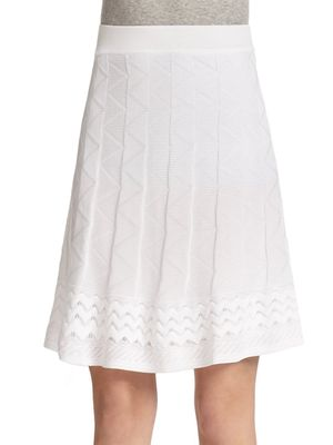 M Missoni Patterned Knit A-Line Skirt