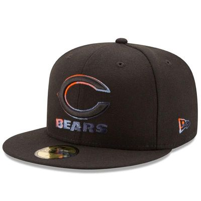 Chicago Bears New Era Color Dim 59FIFTY Fitted Hat - Black