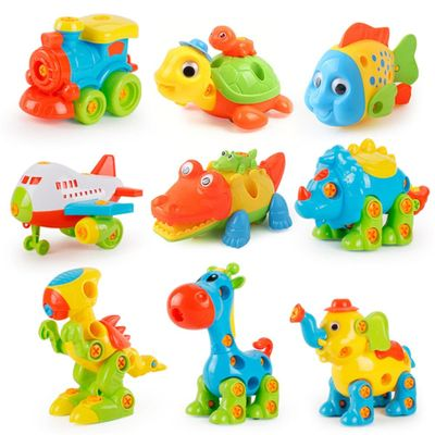 Disassembly DIY Toys Assembly Animal Dinosaur Baby Early Educational Blocks Toy With Assemble Screw Driver Nut Toys for Children