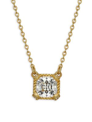 Judith Ripka Goldplated Sterling Silver, Simulated Diamond & Crystal Pendant Necklace
