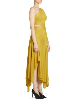 Givenchy One-Shoulder Side Cutout Gown