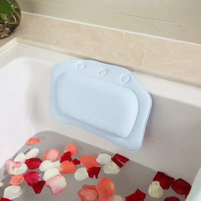 Bathtub Waterproof Spa Soft Bath Pillow Headrest with Suction Soft Headrest Suction Cup  Tub Pillow Bathroom Products