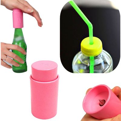 1PC Bottle Opener Tools Drink Punch Mini Water Drill Bottle Opener Bottle Cover Hole Punch Opener Straw Party Random Color H3