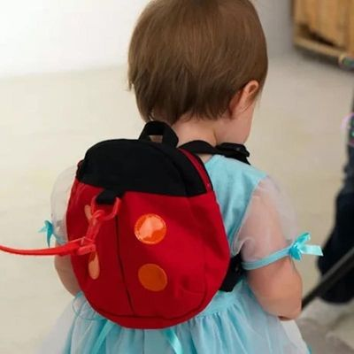 SUPERCUTE Baby Walking Safety Backpack Kids Anti Lost Backpack with Leash Nylon Cute Cartoon