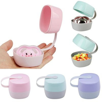 Portable Infant Baby Pacifier Soother Nipple Storage Box Case Holder Container