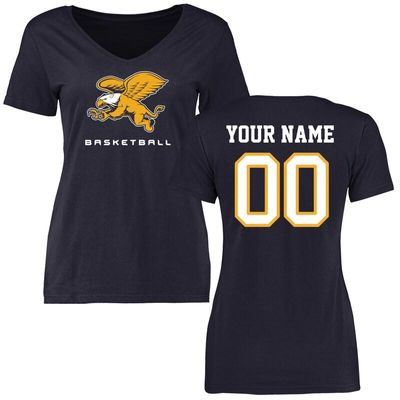 Canisius College Golden Griffins Women's Personalized Basketball T-Shirt - Navy