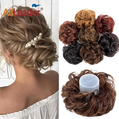 Alileader 1PCS/Lot Short Curly Tail Chignons Hair Heat Resistant Synthetic Hair Rope Natural Fake Hair Bun